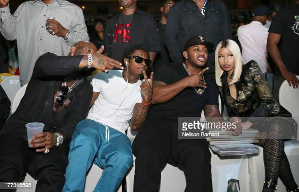 Birdman Lil Wayne Mack Maine and Nicki Minaj attend the 2013 BMI RB/HipHop Awards at Hammerstein Ballroom on August 22 2013 in New York City