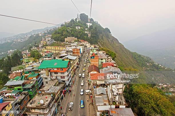 Birds eye view of Gangtok