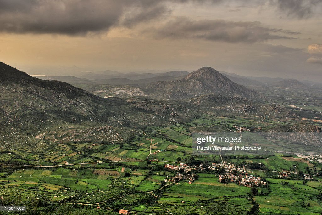 Bird's eye view of Nandi Hills