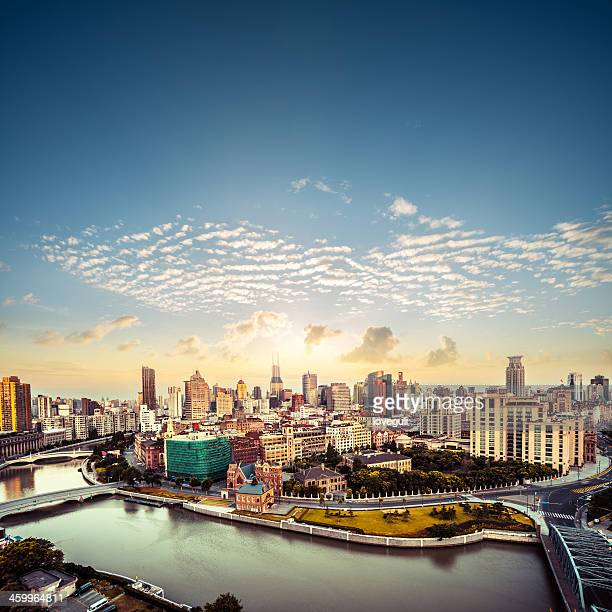 bird's eye view of shanghai