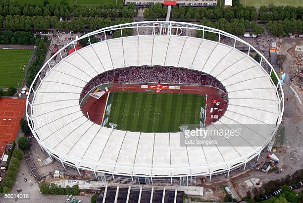 Birds eye view of the Gottlieb Daimler Stadium during the Bundesliga match between VfB Stuttgart and FC Bayern Munich on May 21 2005 in Stuttgart...