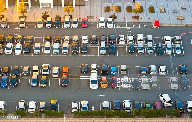 Birds eye view of vehicles