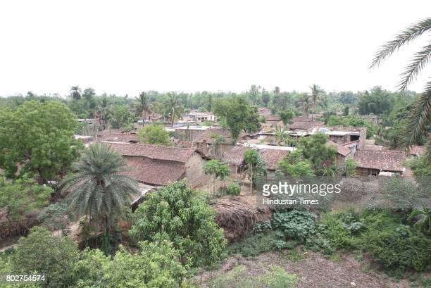A birds eyeview of Dharhara village of Naugchia 35 kms norrthwest of Bhagalpur is surrounded by three all fruit bearing and planted on te birth of...