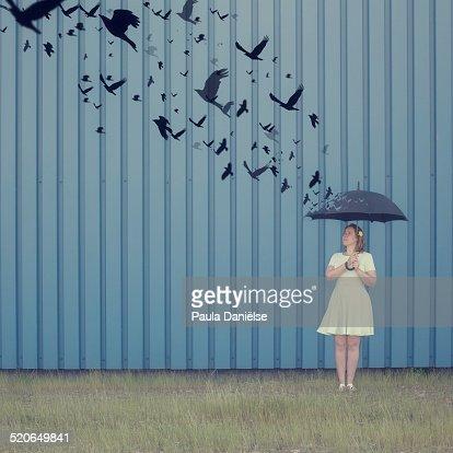 Birds umbrella