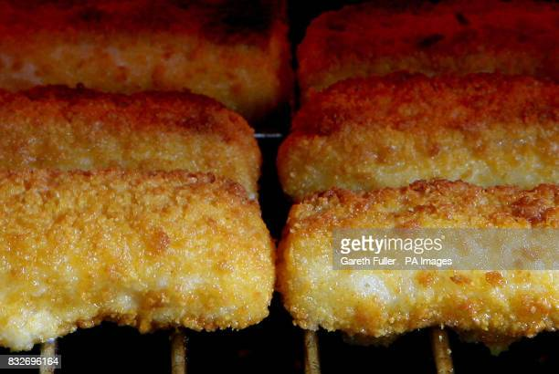 Birdseye Fish Fingers cooking under the grill near Ashford in Kent as the Birdseye factory in Hull prepares for closure