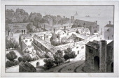 Bird'seye view of the Bishop of Winchester's palace Southwark London c1820