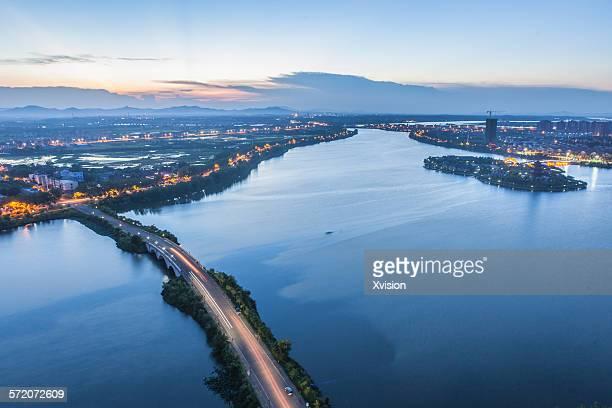 birdview of Fuzhou City