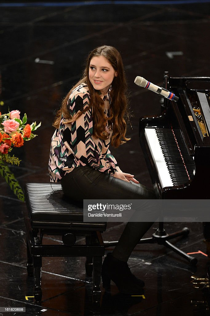 Birdy attends the closing night of the 63rd Sanremo Song Festival at the Ariston Theatre on February 16, 2013 in Sanremo, Italy.