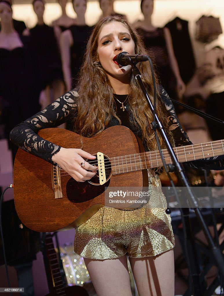 Birdy peforms during the H&M Flagship Fifth Avenue Store launch event at H&M Flagship Fifth Avenue Store on July 15, 2014 in New York City.