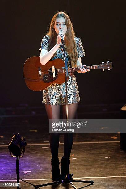 Birdy performs at the Echo Award 2014 show on March 27 2014 in Berlin Germany