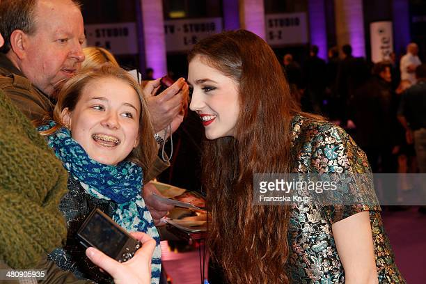 Birdy poses on the red carpet prior the Echo award 2014 on March 27 2014 in Berlin Germany