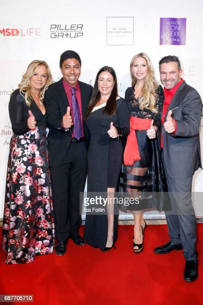 Birgit FischerHoeper former brasilian soccer player Giovane Elber his wife Cintia Elber Sabine Piller and Pedro Da Silva attend the Kempinski Fashion...