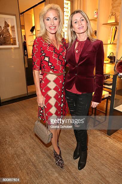 Birgit Muth and Ute Bueschl during the Fendi christmas party on December 10 2015 in Munich Germany