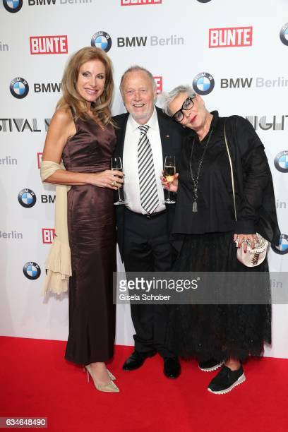 Birgit Muth Joseph Vilsmaier and Heidi Kranz during the BUNTE BMW Festival Night during the 67th Berlinale International Film Festival Berlin at...