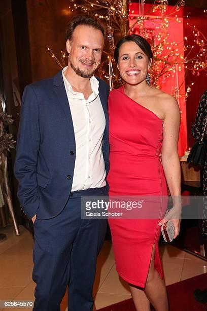Birgit Noessing and her boyfriend Timo Petersen during the christmas party at Hotel Vier Jahreszeiten Kempinski on November 24 2016 in Munich Germany