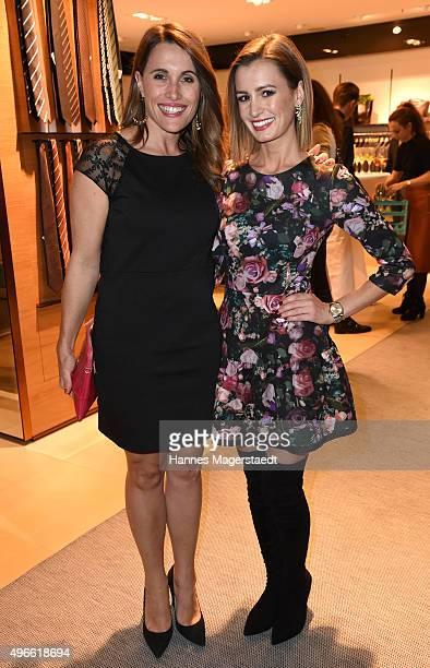 Birgit Noessing and Karolin Oltersdorf attend the 'HIRMERS First Ladies Night' on November 10 2015 in Munich Germany