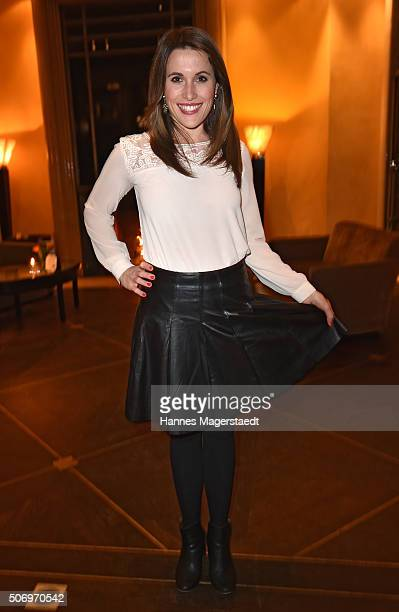 Birgit Noessing attends the German premiere of the tv show 'Altes Geld' at Hotel Bayerischer Hof on January 26 2016 in Munich Germany
