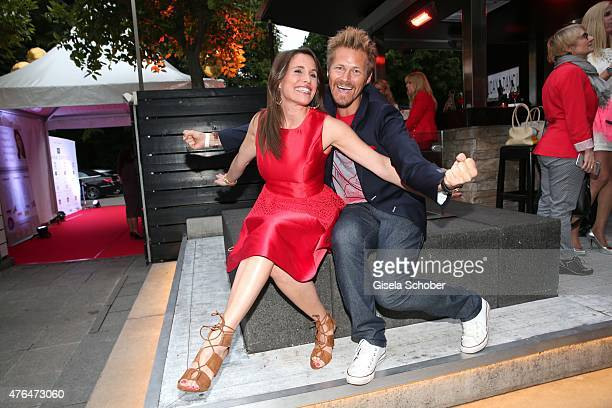 Birgit Noessing Gregor Teicher during the Fashion De Luxe Party presented by Joana Danciu Felix W at P1 on June 9 2015 in Munich Germany