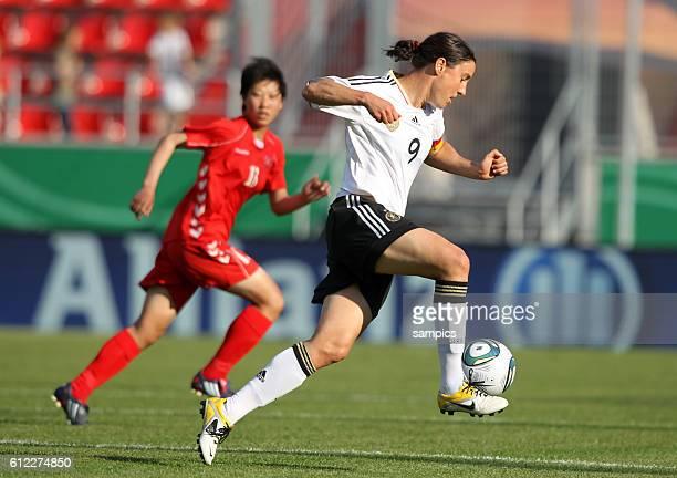 Birgit Prinz Frauenfussball Länderspiel Deutschland Nordkorea Korea DVR 20 am 21 5 2011