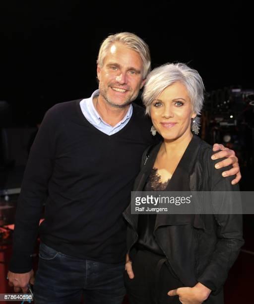 Birgit Schrowange and her boyfriend Frank Spothelfer attend the 22nd RTL Telethon on November 24 2017 in Huerth Germany