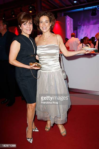 Birgit Schrowange and Isabel Varell attend the Deutscher Fernsehpreis 2013 After Show Party at Coloneum on October 02 2013 in Cologne Germany