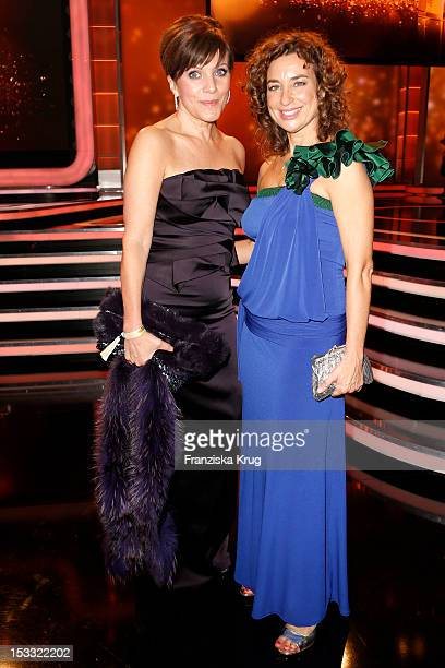 Birgit Schrowange and Isabel Varell attend the German TV Award 2012 at Coloneum on October 2 2012 in Cologne Germany