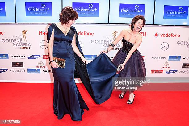 Birgit Schrowange and Isabel Varell attend the Goldene Kamera 2015 on February 27 2015 in Hamburg Germany