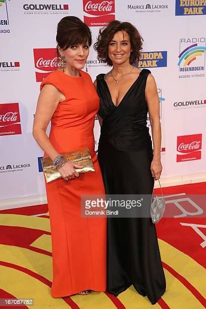 Birgit Schrowange and Isabel Varell attend the Radio Regenbogen Award 2013 at Europapark on April 19 2013 in Rust Germany