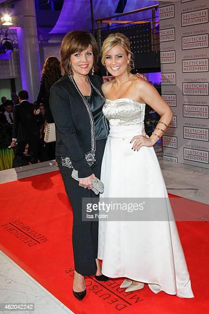 Birgit Schrowange and Jennifer Knaeble attend the German Media Award 2015 on January 23 2015 in BadenBaden Germany