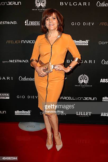 Birgit Schrowange attends the Blurry Garden Couture Collection Presentation in a nuclear bunker on September 03 2014 in Berlin Germany