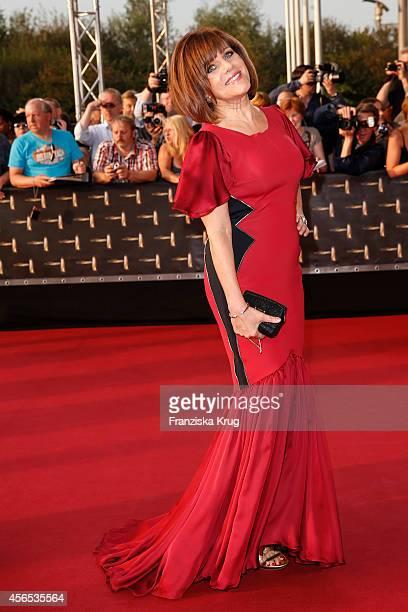 Birgit Schrowange attends the red carpet of the Deutscher Fernsehpreis 2014 on October 02 2014 in Cologne Germany