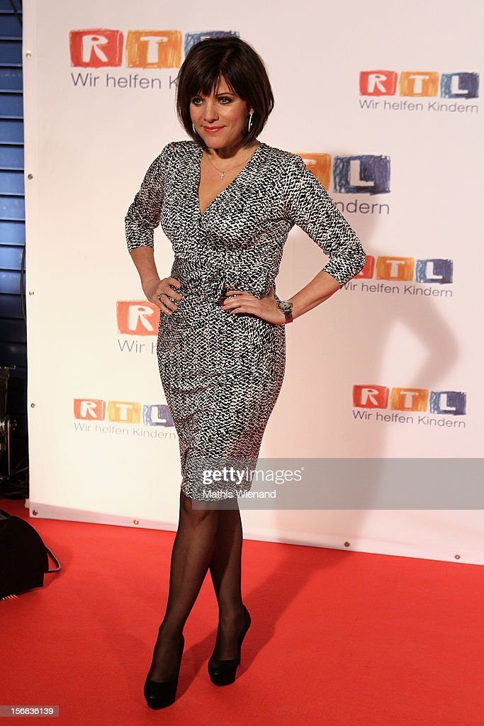 Birgit Schrowange attends the 'RTL Spendenmarathon' at RTL Studio Huerth on November 22, 2012 in Cologne, Germany.