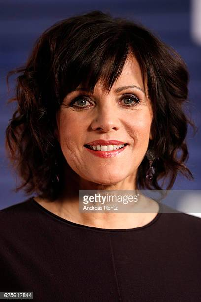 Birgit Schrowange is seen in the studio of the RTL Telethon TV show on November 24 2016 in Cologne Germany The telethon is held every year and is on...