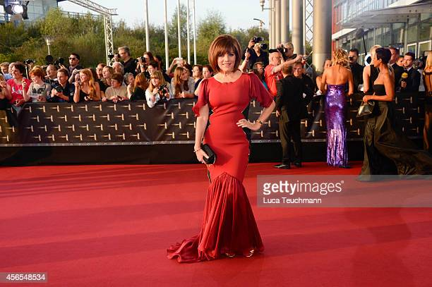 Birgit Schrowangeattend the red carpet of the Deutscher Fernsehpreis 2014 at Coloneum on October 2 2014 in Cologne Germany