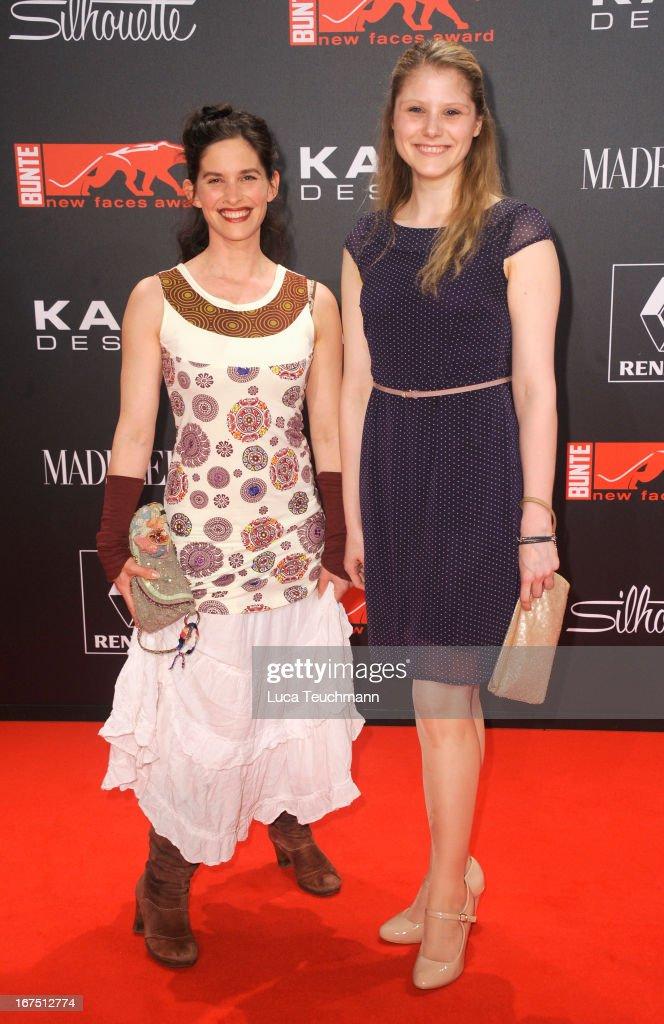 Birgit Staubet and Stefanie Lexar attend the new faces award Film 2013 at Tempodrom on April 25, 2013 in Berlin, Germany.