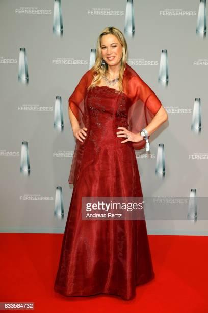 Birgit von Bentzel attends the German Television Award at Rheinterrasse on February 2 2017 in Duesseldorf Germany