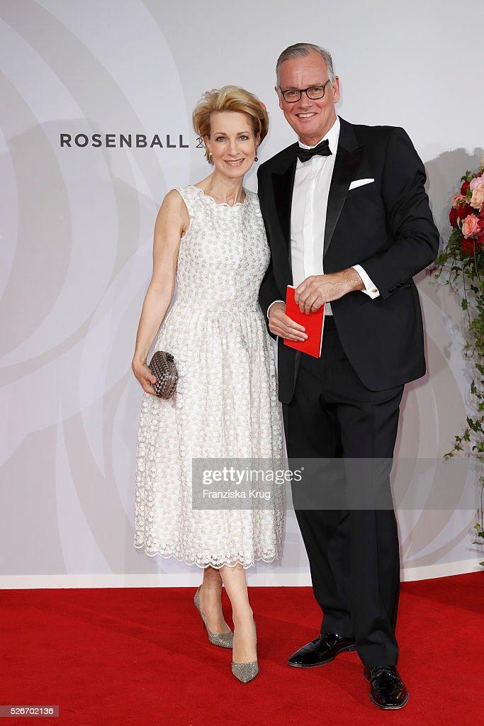 Birgit von Heintze and Florian von Heintze attend the Rosenball 2016 on April 30 in Berlin, Germany.