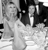 Birgitte Bardot and Bob Zaguri attending a party for Bardot at the Beverly Hills Hotel