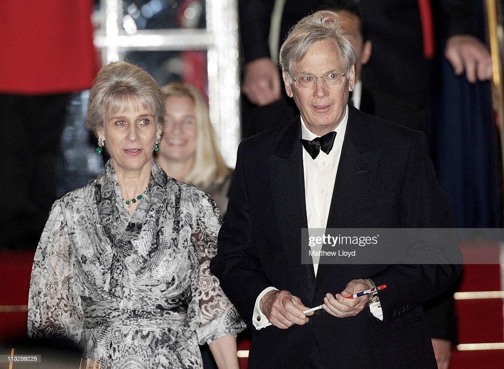Birgitte, Duchess of Gloucester (L) and Prince Richard, Duke of Gloucester attend a gala pre-wedding dinner held at the Mandarin Oriental Hyde Park on April 28, 2011 in London, England.
