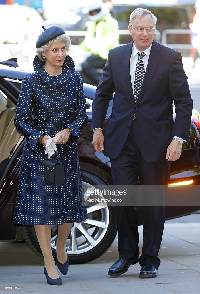 Birgitte, Duchess of Gloucester and Prince Richard, Duke of Gloucester attend a service of celebration to mark the 60th anniversary of the Coronation of Queen Elizabeth II at Westminster Abbey on June 4, 2013 in London, England. The Queen's Coronation took place on June 2, 1953 after a period of mourning for her father King George VI, following her ascension to the throne on February 6, 1952. The event 60 years ago was the first time a coronation was televised for the public.