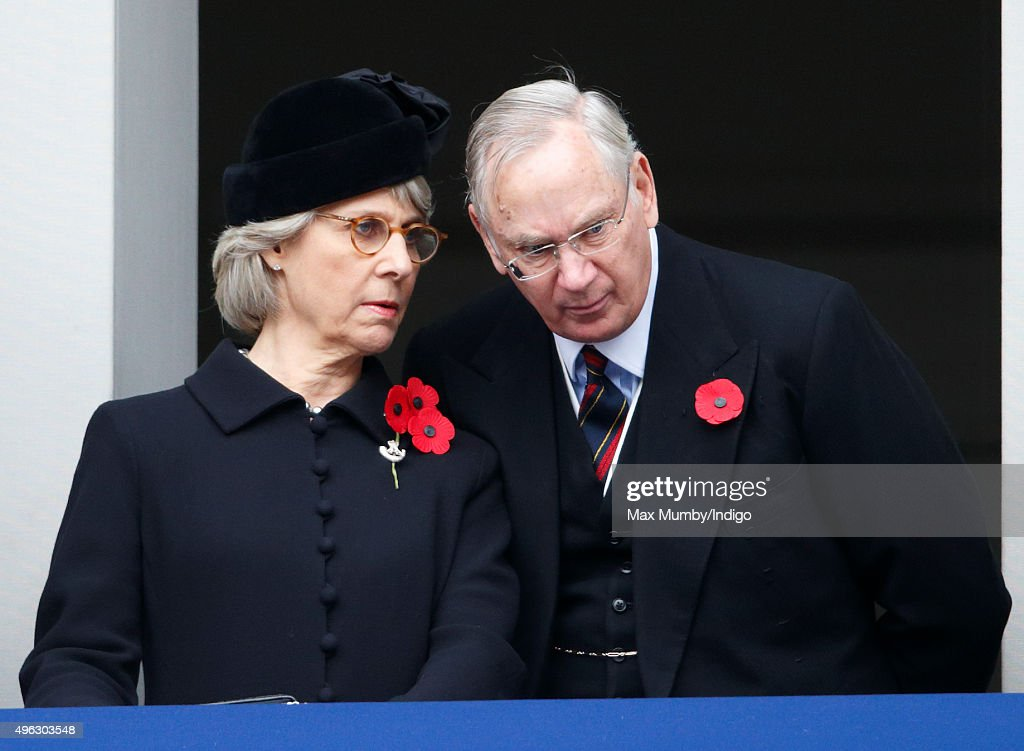 <a gi-track='captionPersonalityLinkClicked' href=/galleries/search?phrase=Birgitte+-+Duchess+of+Gloucester&family=editorial&specificpeople=4152242 ng-click='$event.stopPropagation()'>Birgitte</a>, Duchess of Gloucester and <a gi-track='captionPersonalityLinkClicked' href=/galleries/search?phrase=Prince+Richard+-+Duke+of+Gloucester&family=editorial&specificpeople=4151394 ng-click='$event.stopPropagation()'>Prince Richard</a>, Duke of Gloucester attend the annual Remembrance Sunday Service at the Cenotaph on Whitehall on November 8, 2015 in London, England. The National Service of Remembrance takes place at the Cenotaph in Whitehall, London. The Queen, senior politicians, including the British Prime Minister and former British Prime Ministers, alongside representatives from the armed forces pay tribute to those who have suffered or died at war.