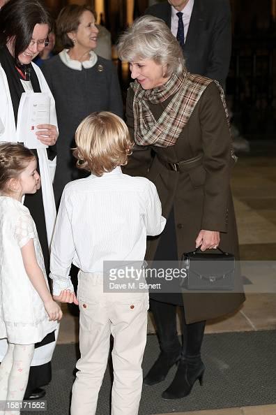 Birgitte Duchess of Gloucester attend the Missing People Carol Service at StMartinInTheFields Trafalgar Square on December 10 2012 in London England
