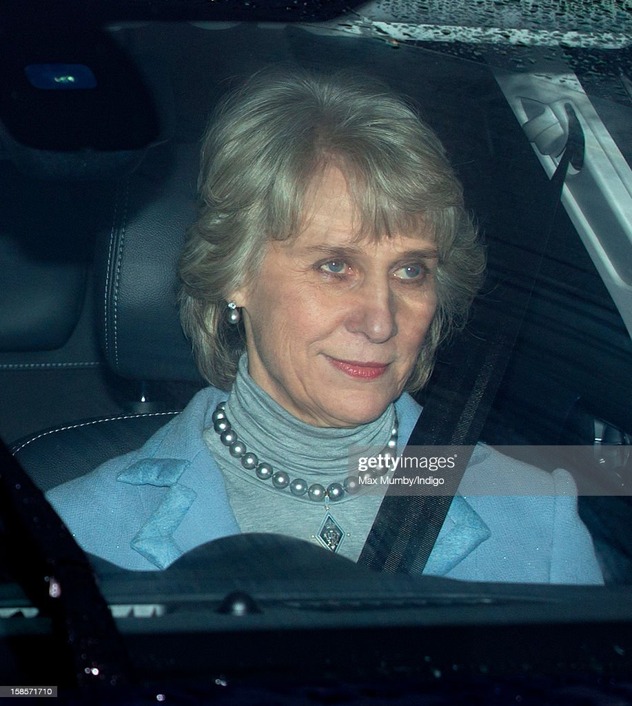 Birgitte, Duchess of Gloucester attends a Christmas lunch for members of the Royal Family hosted by Queen Elizabeth II at Buckingham Palace on December 19, 2012 in London, England.