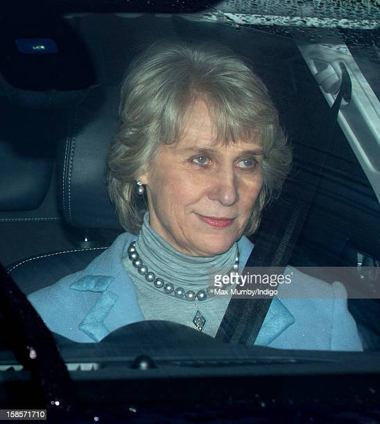 Birgitte Duchess of Gloucester attends a Christmas lunch for members of the Royal Family hosted by Queen Elizabeth II at Buckingham Palace on...