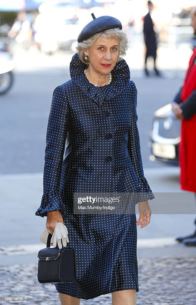 Birgitte, Duchess of Gloucester attends a service of celebration to mark the 60th anniversary of the Coronation of Queen Elizabeth II at Westminster Abbey on June 4, 2013 in London, England. The Queen's Coronation took place on June 2, 1953 after a period of mourning for her father King George VI, following her ascension to the throne on February 6, 1952. The event 60 years ago was the first time a coronation was televised for the public.