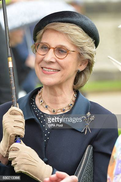 Birgitte Duchess of Gloucester attends the first Royal Garden Party of the year in the grounds of Buckingham Palace on May 10 2016 in London England