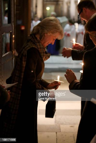 Birgitte Duchess of Gloucester attends the Missing People Carol Service at StMartinInTheFields Trafalgar Square on December 10 2012 in London England