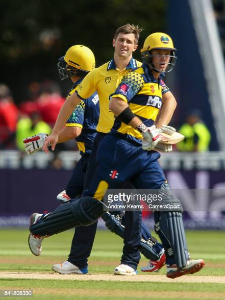 Birmingham Bears' Chris Woakes looks on as Glamorgan's Colin Ingram takes a run during the NatWest T20 Blast SemiFinal match between Birmingham Bears...
