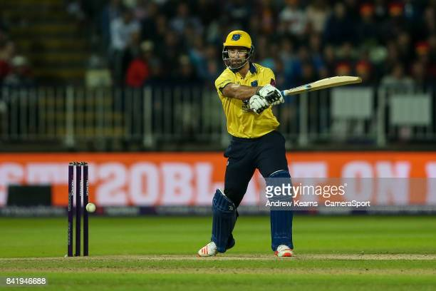 Birmingham Bears' Colin De Grandhomme cuts during the NatWest T20 Blast Final match between Birmingham Bears and Notts Outlaws at Edgbaston on...