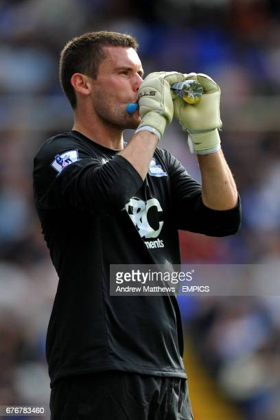 Birmingham City goalkeeper Ben Foster takes a drink from a Lucozade Sport bottle